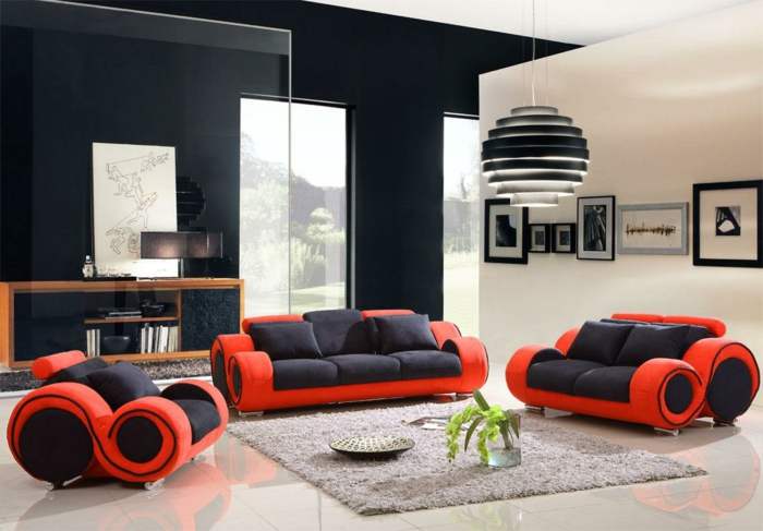 wall design ideas living room black wall fancy living room pictures