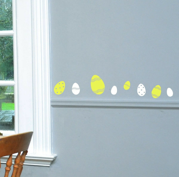 wall decoration easter eggs easter decoration crafting dining room