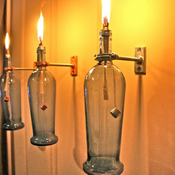 Wall Lamps DIY Lamp Wine Bottle Decoration Ideas
