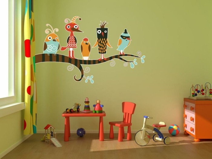 wall painting kids room colored wall decoration ideas colorful curtains