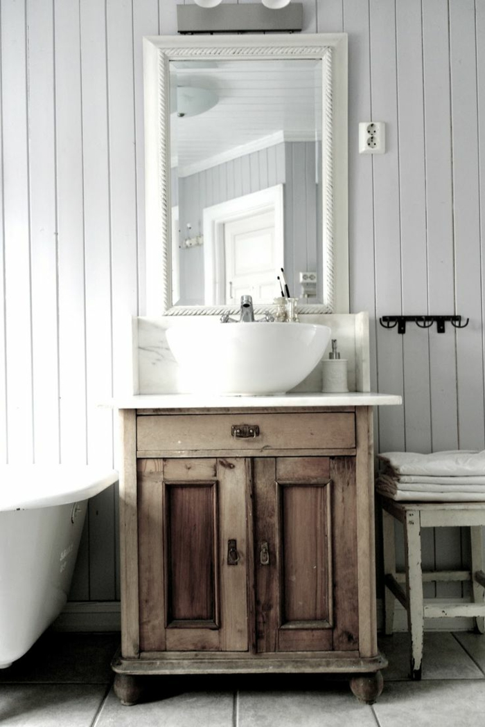 vanity wood bathroom ideas shabby chic style