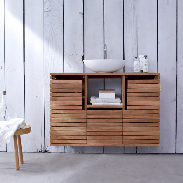 vanity wood modern bathroom ideas wood furniture