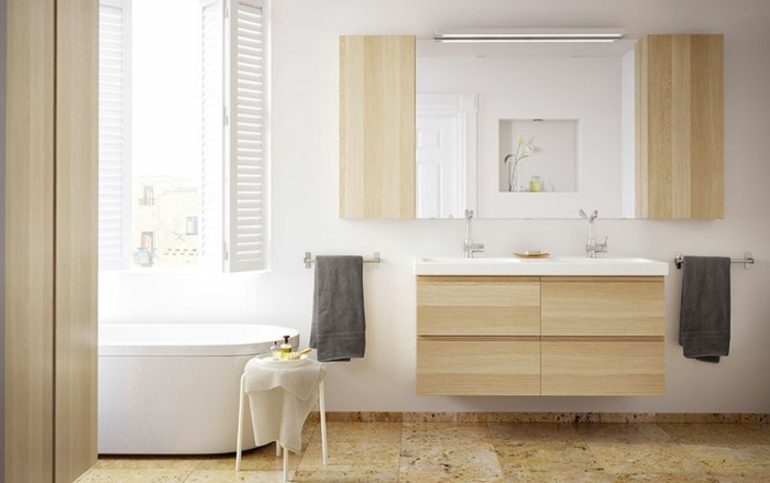 Vanity wood rustic bathroom ideas ikea furniture