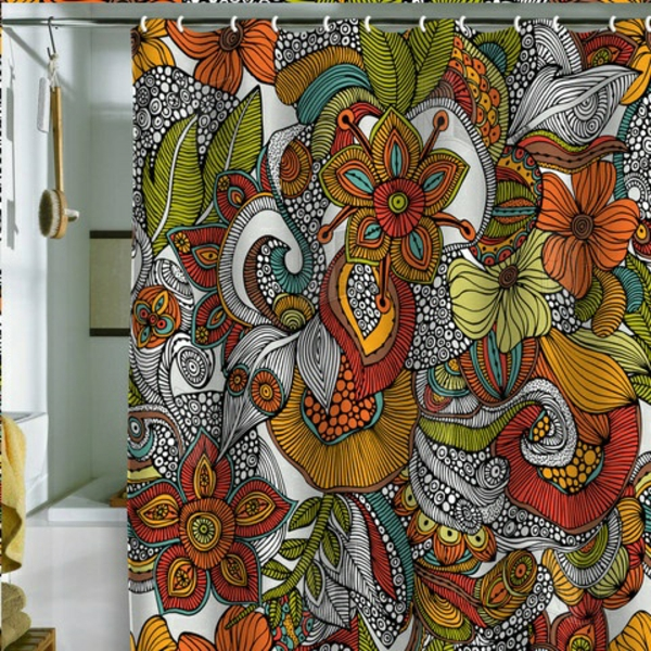 decoration suggestions curtains shower curtains floral pattern