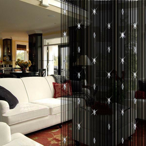 curtains decorations suggestions thread curtain black