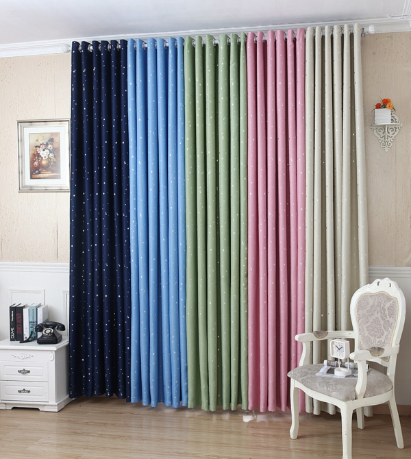 curtains decorations suggestions shiny stars curtains silk