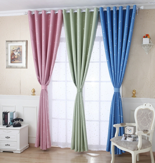 curtains decorations suggestions shiny stars curtains