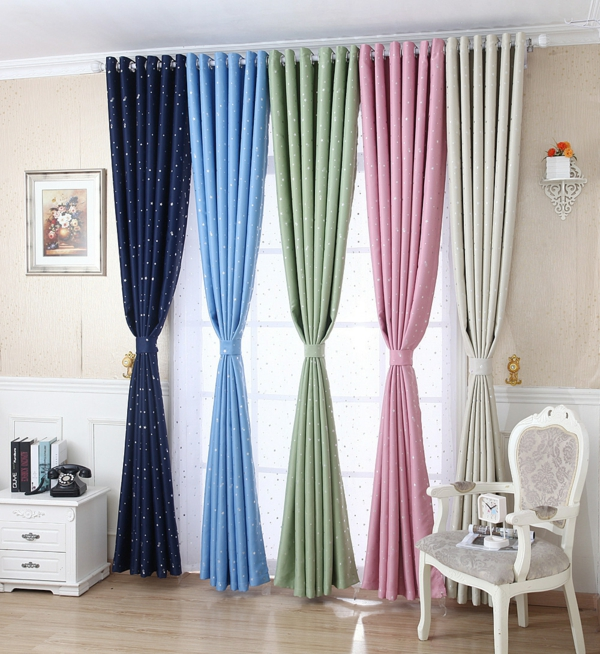 curtains decorations suggestions shiny stars