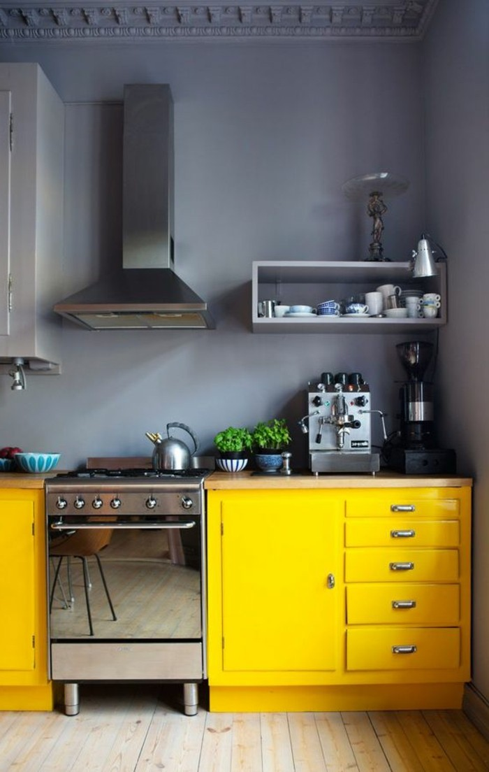 home decor kitchen gray wall paint yellow kitchen cabinets