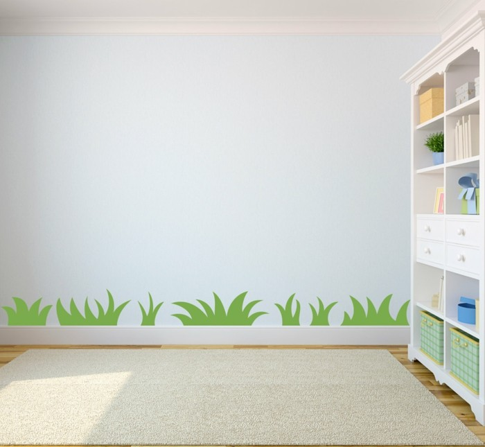 home ideas nursery wall painting grass