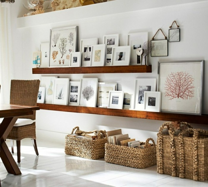 home decoration wall design murals storage baskets