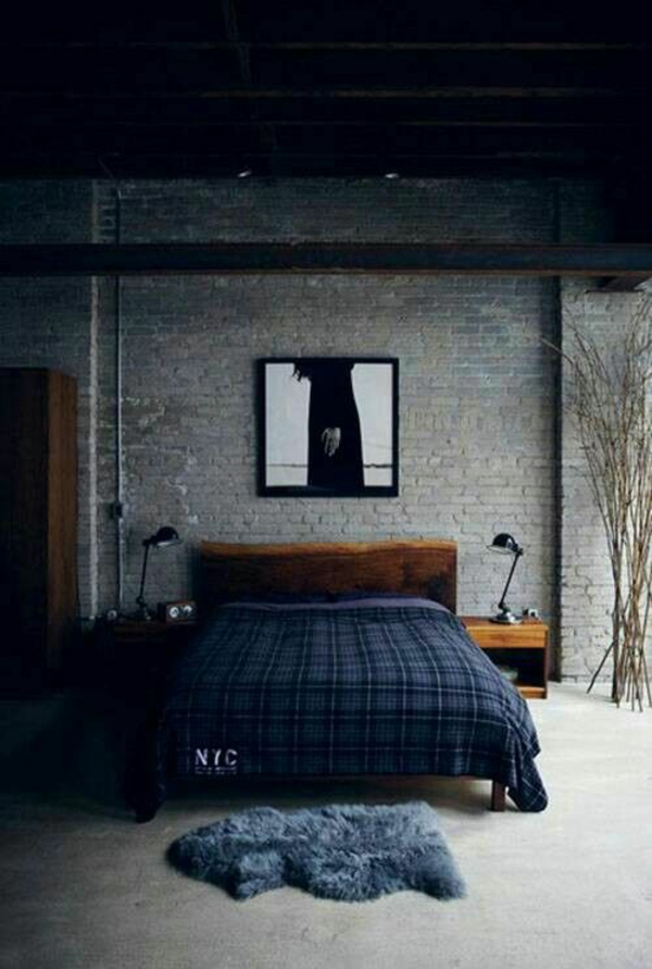 flat furnishing ideas dark bedroom