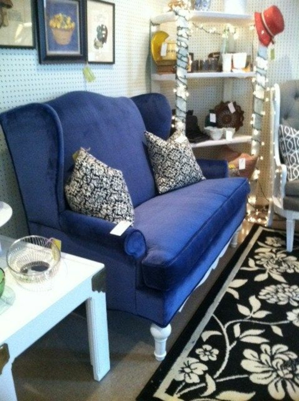 home decor ideas dark blue