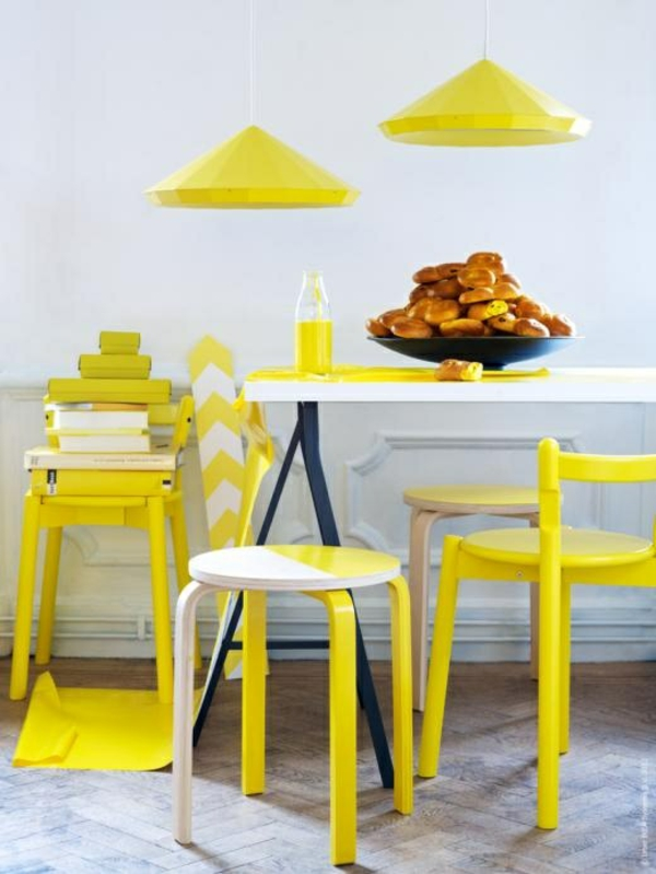 apartment interior ideas yellow dining room