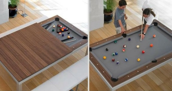 Apartment furniture billiard games