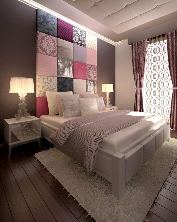 home decorating ideas bedroom bed headboard colored