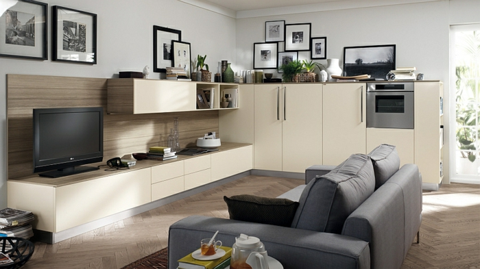 muebles de sala de estar ideas minimalista tv unidad de pared