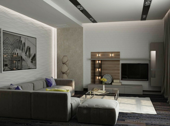 living room modern set up lighting modern residential wall