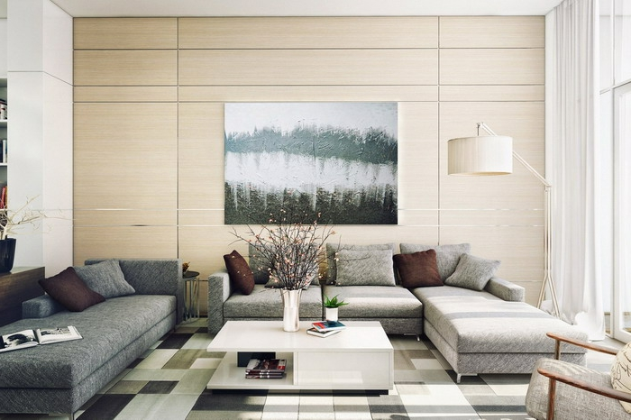 living room modern furnish chic furniture deco small living room