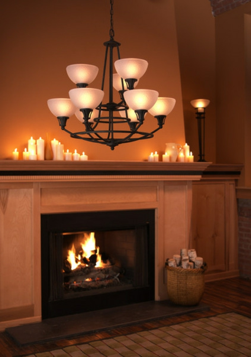 living room romantic lighting lighting candles fireplace chandelier