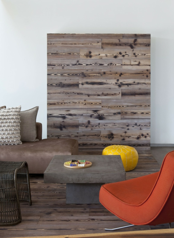 Living room furniture ideas colored accents wood texture