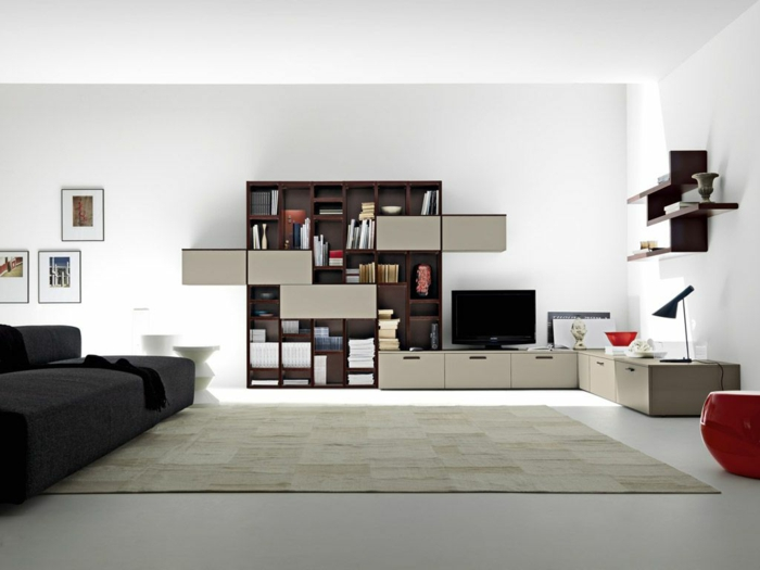 Living room furniture ideas minimalist shelf system