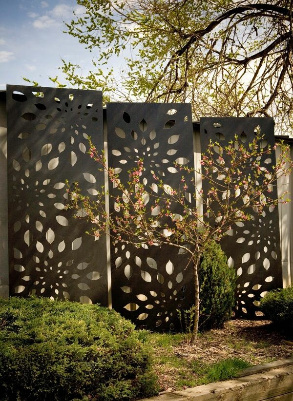 fence metal gardening privacy