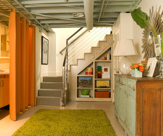 additional storage space creates a deep pile grass green carpet