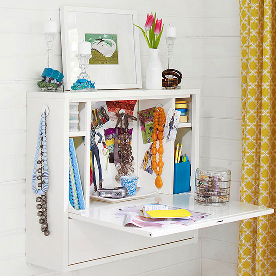 additional storage space create dressing table with accessories