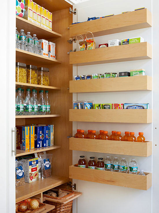 additional storage cabinet with shelves made of light wood